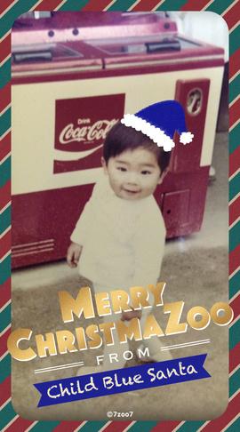 【wallpaper】SP_Happy Merry X'mazoo 2020_Child Blue Santa